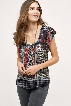 Ancolie Blouse #anthropologie