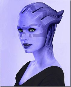 Asari - I can't tell if this is art or cosplay. Also looks a little like Natalie Portman to me.