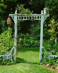 Garden Planning Garden arbor can make a difference to the entire landscape. - Garden arbor can make a difference to the entire landscape and complete your garden aesthetic