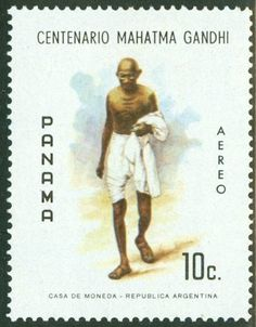 Gandhi stamp released by Panama.
