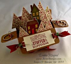 Holiday Home, Homemade Holiday Framelits, Festival of Trees, Card in a Box, Baby Wipe Technique, Stampin Up!