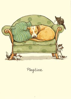 PLAYTIME  a Two Bad Mice card by Anita Jeram