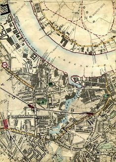 Isle Of Dogs, North London Railway, Blackwall Railway, The Thames, Greenwich Reach, Deptford, South Eastern Railway, Deptford Creek, New Cross, & Greenwich; & References No 3, & 107