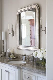 Lake Residence - Transitional - Bathroom - by Linda McDougald Design | Postcard from Paris Home.  SW Downing Sand
