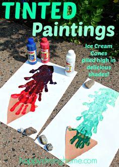 Tinted Ice Cream Paintings Craft