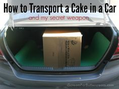 If you don't have an SUV or a van, don't panic. You can still transport your cakes. Here are a few do's and don'ts of transporting a cake in a car.
