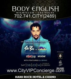 Sky Blu of LMFAO Saturday August 23rd at Body English Nightclub Las Vegas. Contact 702.741.2489 CITY VIP CONCIERGE for Table and Bottle Service, Tickets, VIP Services and Everything Fabulous in Las Vegas!!! #BodyEnglishLasVegas #VegasNightclubs #LasVegasVIPServices #VegasBottleService #CityVIPConcierge CALL OR CLICK TO BOOK http://www.cityvipconcierge.com/las-vegas-nightlife.html
