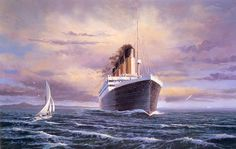 titanic art images   Stretching Her Legs