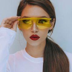 141c8f352 Clear Eyewear Fashion Sunglasses Women Cat Eye Sun Glasses For Ladies Clear  Rimless Mirror Pink Sun