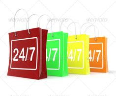 Realistic Graphic DOWNLOAD (.ai, .psd) :: http://vector-graphic.de/pinterest-itmid-1006956556i.html ... Twenty Four Seven Shopping Bags Shows Open 24/7 ...  24/7, 24x7, Twenty four seven, all hours, all the time, all week, always open, bags, day, days, four bags, open, seven, shopping bags, twenty four, week  ... Realistic Photo Graphic Print Obejct Business Web Elements Illustration Design Templates ... DOWNLOAD :: http://vector-graphic.de/pinterest-itmid-1006956556i.html