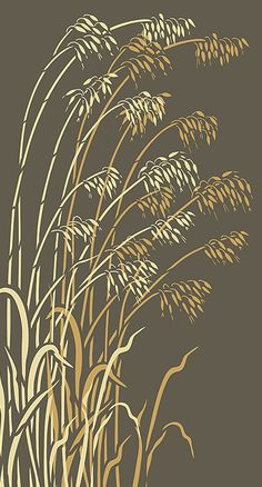 T T Wild Grass Stencils Oversize Wild Oats Stencil Stencils, Stencil Art, Bird Stencil, Damask Stencil, Stencil Patterns, Stencil Designs, Camo Patterns, Wild Grass, Diy Inspiration