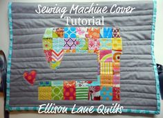 Sewing Machine Cover Tutorial - I'm thrilled to have found this in my e-mail today.  I've been meaning to make a sewing machine cover and this is super cute!  It is my next project.
