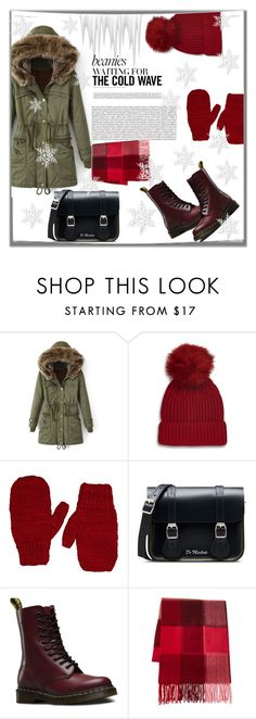 """""""Winter outfit"""" by eva-van-aardbei ❤ liked on Polyvore featuring Topshop, The Elder Statesman, Dr. Martens, Fraas, polyvoreeditorial and pompombeanies"""