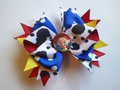 Perfect for a cowgirl party! Toy Story Birthday, Toy Story Party, 2nd Birthday Parties, Birthday Ideas, Disney Mickey Ears, Disney Bows, Cowgirl Party, Cowgirl Hair, Jessie Costumes
