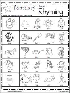 rhyme lines freebie rhyming round up rhyming worksheet preschool worksheets rhyming. Black Bedroom Furniture Sets. Home Design Ideas