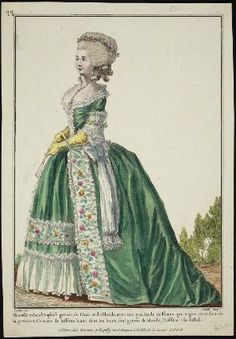 Gallerie des Modes, 1782.- robe a l'anglaise