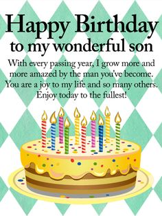 Happy birthday to grown son birthday wishes for son birthday you are a joy to my life happy birthday wishes card for son for m4hsunfo