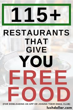 Do you like free food? Even if it isn't your birthday, these restaurant free food apps/e-mail clubs will give you a freebie just for joining. Free Books By Mail, Free Stuff By Mail, Get Free Stuff, Coupons For Free Items, Free Printable Coupons, Couponing For Beginners, Couponing 101, 4th Of July Cocktails, Restaurant App