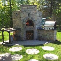 Brick Baking Oven - Perfect for baking some sweet and savory beans!