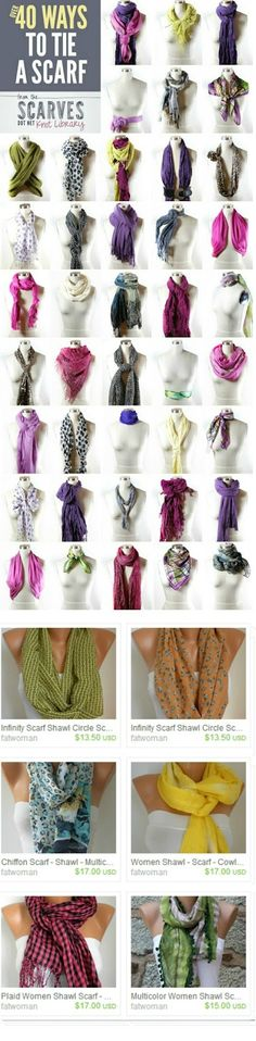 Fatwoman Etsy - Crochet Knit - Cowl Pashmina - Scarf Scarves - Shawl: Loop Scarf - 3