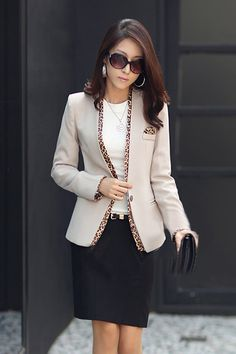 Corean Fashion New Apricot Blazer.