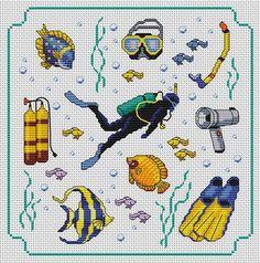 Cross-stitch Ocean Life... Gallery.ru / Фото #1 - Морская тема - elena-555