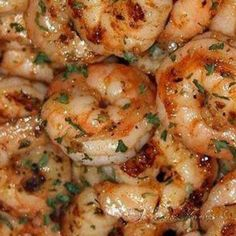 Ruth's Chris New Orleans-Style BBQ Shrimp 20 large (16/20) shrimp, peeled and deveined -1 ounce canola oil -1 tablespoon plus 5 teaspoons green onions, chopped -2 ounces dry white wine -1 teaspoon fresh chopped garlic -4 tablespoons Lea & Perrins Worcestershire Sauce -1 teaspoon Tabasco -1/2 teaspoon cayenne -1/2 teaspoon paprika -8 ounces (2 sticks) salted butter Shrimp Dishes, Fish Dishes, Fish Recipes, Seafood Recipes, Copycat Recipes, Shrimp Scampi Recipes, Simple Shrimp Recipes, Red Lobster Shrimp Scampi Recipe, Sauted Shrimp Recipes