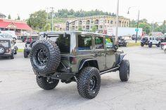 Custom 2015 Jeep Wrangler Unlimited Rubicon Tank - Poison Spyder Rock Brawler II Rear Bumper and Tire Carrier
