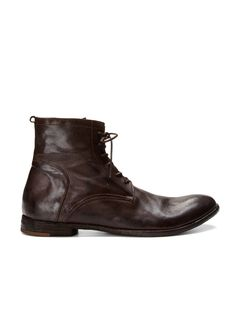 Washed Leather Boots by Officine Creative on Park & Bond