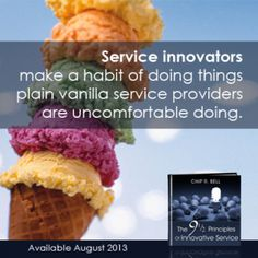 The 9 ½ Principles of Innovative Service is your instruction manual and inspirational guide to making service an experience that causes your customers to swoon, smile, and sing your praises!