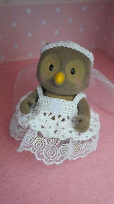 Calico Critter Crochet Wedding Dress