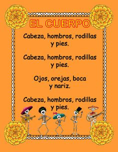 EL CUERPO-Song,flash cards,posters& worksheets about the body parts in Spanish