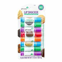 Lip Smacker Girl Scouts Lip Balm Party Pack of 8 | Claire's