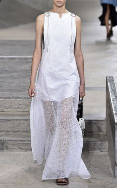 White Flying Kenzo Embroidered Organza Dress by Kenzo for Preorder on Moda Operandi