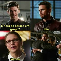 Crossovers entre o Arrowverse Supergirl Dc, Supergirl And Flash, Marvel Dc, Dc Memes, Funny Memes, Arrow Flash, Flash Wallpaper, Flash Barry Allen, Nerd Jokes