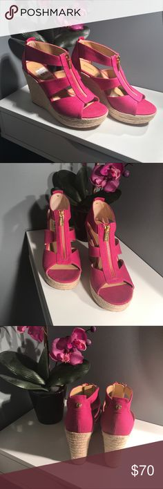 Brand new Michael Kors Wedges Gorgeous brand New Michael Kors Wedges...never been used. KORS Michael Kors Shoes Wedges