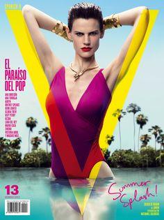 Saskia de Brauw - Acuática - V Magazine Spain 13, 2012  Nathaniel Goldberg  www.nathanielgoldberg.com  via vmagazinespain.com    for #composition #motion #color