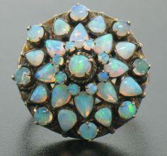 Vintage Antique 10K Rose Gold Dome ring/ebay