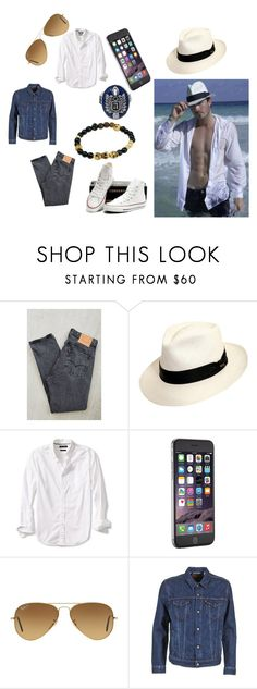 """""""Saturday"""" by alecrsutton on Polyvore featuring Levi's, Scala, Banana Republic, Ray-Ban, men's fashion and menswear"""