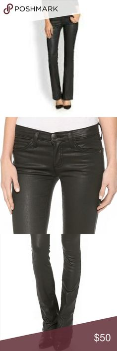 New Current Elliott Slim Black coate 27 hot New with tags current Elliott, the look of leather with the feel of jeans, black coated, the Jessie, size 27, perfect for fall winter 2017, purchase from Neiman Marcus- extremely slimming, bundle to save with other great items in my closet, fast shipping, priced to sell, 27 x 33. Final price. Store closing Sept. Thx current Elliott Pants