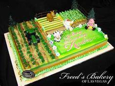 Birthday on the Farm Birthday Cake