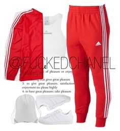 ✖ adidas combo. by fuckedchanel on Polyvore featuring polyvore, fashion, style, adidas, adidas Originals and clothing