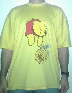 231 - #winnie #the #pooh #winniepooh #orsetto #bear #miele #goloso #honey #tshirt #t-shirt #ungheria #hungary #orecchie #coda #maglietta #front