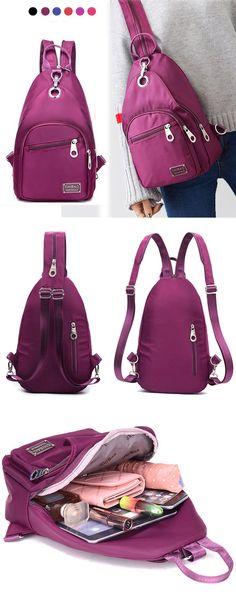 $17.89 Women Nylon Chest Bag, Upgrade High-End Daily Crossbody Bag, Waterproof Shoulder Bag