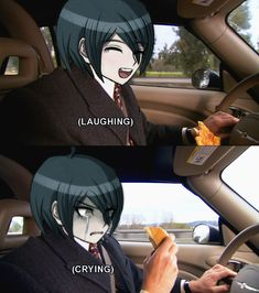 I give you a hamburger — Danganronpa reaction photos Danganronpa Funny, Danganronpa Characters, And So It Begins, Trigger Happy, Another Anime, Emo Boys, Cursed Images, Kaito, Reaction Pictures