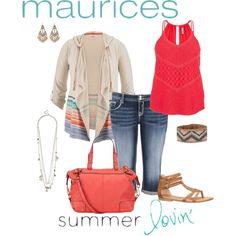 maurices Contest: Summer Lovin'- plus size by gchamama on Polyvore featuring polyvore fashion style maurices