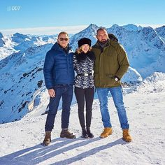 #DanielCraig aka #JamesBond #007, #LéaSeydoux and #DaveBautista in the #Austrian #skiresort of #Sölden for #SPECTRE   #Repost via @007