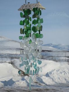 Sea Glass Wind Chime by GoldenBeachTreasures. very flexible on colors!