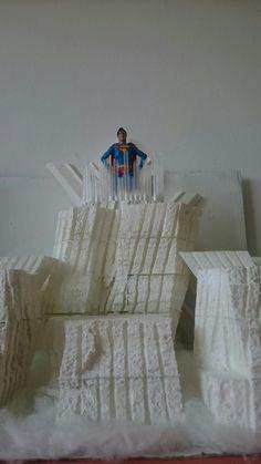 Custom-made Fortress of Solitude diorama