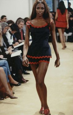 Naomi Campbell at Prada Spring 1992